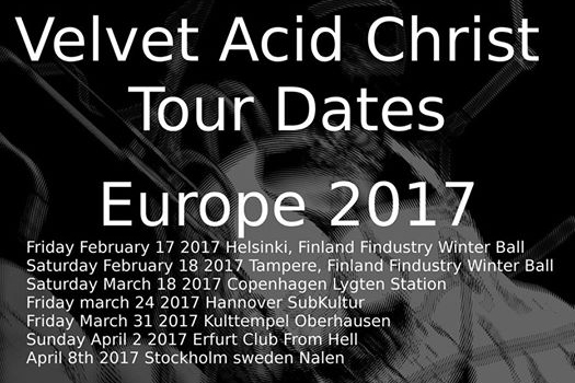 Velvet Acid Christ announces European Tour Dates