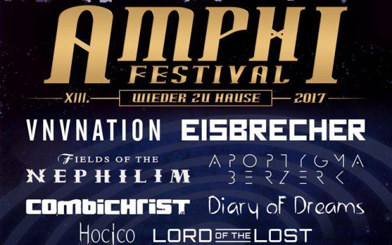 XIII. AMPHI FESTIVAL 2017 22. & 23.07.2017 – KÖLN | TANZBRUNNEN, complete line up