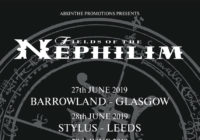 Fields Of The Nephilim June 2019 UK Tour