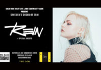 The Swedish Queen of EBM, REIN headlines TEC 006 on 30 November, 2019, at Electrowerkz, London