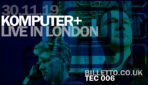 Komputer rare London show at Electrowekrz on 30 November