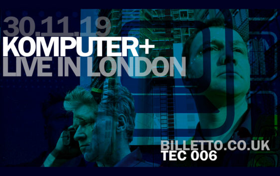 Komputer rare London show at Electrowekrz on 30 November